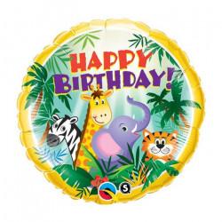 """(A) BALL.MYLAR 18"""" BIRTHDAY..."""