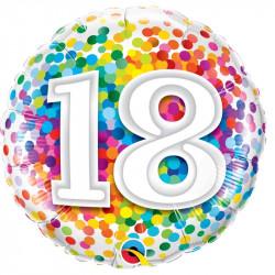 """(A) BALL.MYLAR 18"""" 18ANS..."""