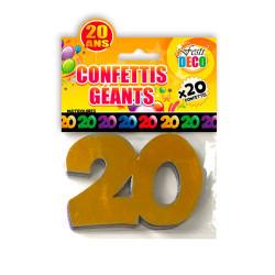 CONFETTIS GEANTS 20ANS