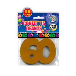 CONFETTIS GEANTS 60ANS