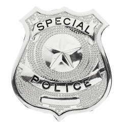 BADGE POLICE METAL