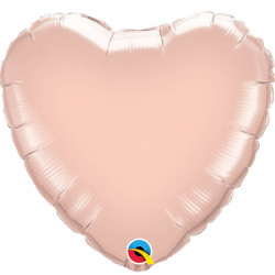 "BALL.MYLAR 9"" COEUR ROSE GOLD"