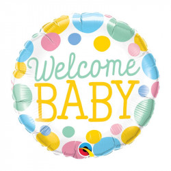 "(A) BALL.MYLAR 18"" WELCOME..."