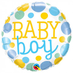 "(A) BALL.MYLAR 18"" BABY BOY..."