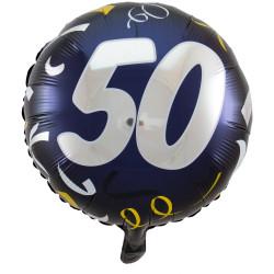 """(A) BALL.MYLAR 18"""" 50ANS..."""