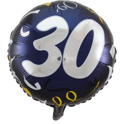 """(A) BALL.MYLAR 18"""" 30ANS..."""