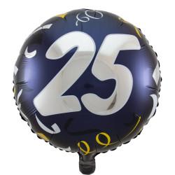 """(A) BALL.MYLAR 18"""" 25ANS..."""