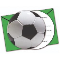 6 INVIT.+ENV. FOOTBALL VERT