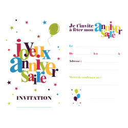6 INVITATIONS 11x17cm...