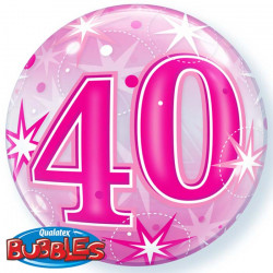 "(C) BALL.BUBBLE 22"" 40 ROSE..."