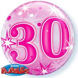 "(C) BALL.BUBBLE 22"" 30 ROSE..."