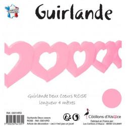 GUIRL 2 COEURS 4M ROSE