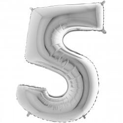 """(C) BALLON 26"""" (66cm) 5 ARGENT"""