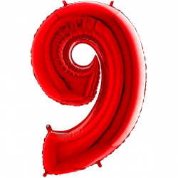 """(C) BALLON 26"""" (66cm) 9 ROUGE"""