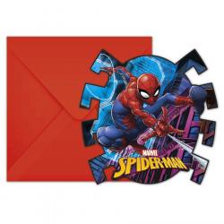 6 INVIT+ENV.SPIDERMAN TEAM UP