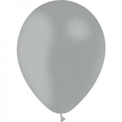 12 BALLONS GRIS D28CM