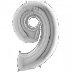 """(C) BALLON 26"""" (66cm) 9 ARGENT"""