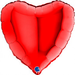 """(A) BALL.MYLAR 18"""" COEUR ROUGE"""