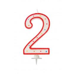 "BOUGIE GEANTE ""2"" 12.5cm"