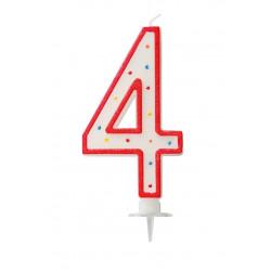 "BOUGIE GEANTE ""4"" 12.5cm"