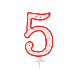 "BOUGIE GEANTE ""5"" 12.5cm"