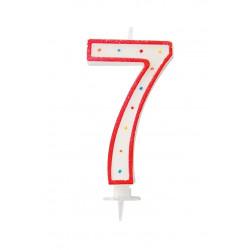 "BOUGIE GEANTE ""7"" 12.5cm"