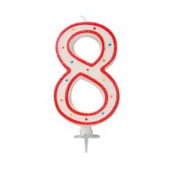 "BOUGIE GEANTE ""8"" 12.5cm"