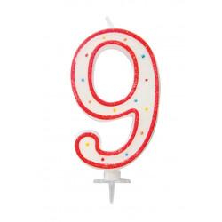 "BOUGIE GEANTE ""9"" 12.5cm"