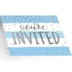 8 INVITATIONS 10x12cm...