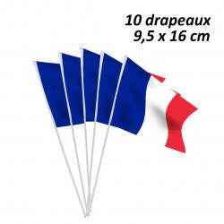 10 DRAPEAUX PAPIER FRANCE...