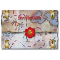 8 INVITATIONS PIRATES 2