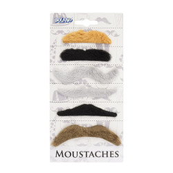 6 MOUSTACHES NATURELLES